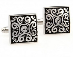 cuff021-cufflinks--scroll-with-black-background